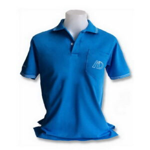 เสื้อคอปก วินเทจ สีฟ้า